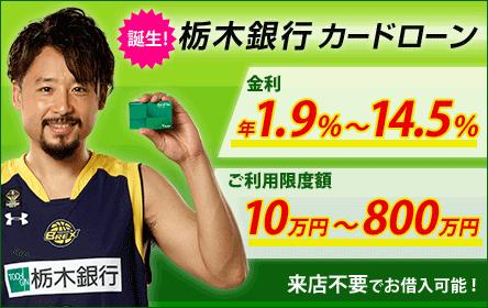 栃木銀行カードローン※対象エリア限定